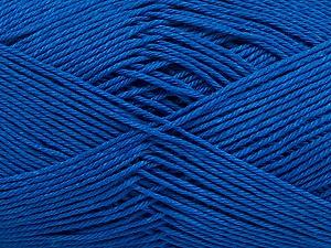 Ne: 8/4. Nm 14/4 Fiber Content 100% Mercerised Cotton, Brand ICE, Blue, Yarn Thickness 2 Fine  Sport, Baby, fnt2-49604