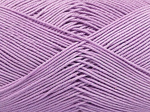 Ne: 8/4. Nm 14/4 Fiber Content 100% Mercerised Cotton, Lilac, Brand ICE, Yarn Thickness 2 Fine  Sport, Baby, fnt2-49606