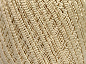 Ne: 10/3 Nm: 17/3 Fiber Content 100% Mercerised Cotton, Brand ICE, Cream, Yarn Thickness 1 SuperFine  Sock, Fingering, Baby, fnt2-49850