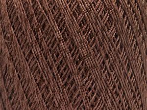Ne: 10/3 +600d. Viscose. Nm: 17/3 Fiber Content 72% Mercerised Cotton, 28% Viscose, Brand ICE, Brown, Yarn Thickness 1 SuperFine  Sock, Fingering, Baby, fnt2-49860