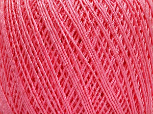 Ne: 10/3 +600d. Viscose. Nm: 17/3 Fiber Content 72% Mercerised Cotton, 28% Viscose, Pink, Brand ICE, Yarn Thickness 1 SuperFine  Sock, Fingering, Baby, fnt2-49874
