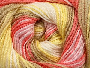 . Fiber Content 100% Baby Acrylic, Yellow, White, Salmon, Pink, Brand ICE, Camel, Yarn Thickness 2 Fine  Sport, Baby, fnt2-50009