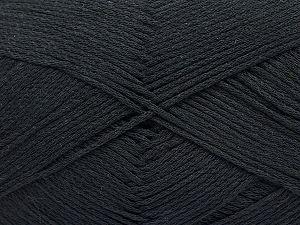 Fiber Content 100% Cotton, Brand ICE, Black, Yarn Thickness 2 Fine  Sport, Baby, fnt2-50091