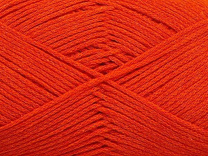 Fiber Content 100% Cotton, Orange, Brand ICE, Yarn Thickness 2 Fine  Sport, Baby, fnt2-50097