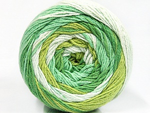 Fiber Content 100% Cotton, Brand ICE, Green Shades, Yarn Thickness 3 Light  DK, Light, Worsted, fnt2-50558