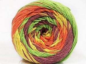 Fiber Content 100% Cotton, Yellow, Orange, Maroon, Brand ICE, Green, Yarn Thickness 3 Light  DK, Light, Worsted, fnt2-50565