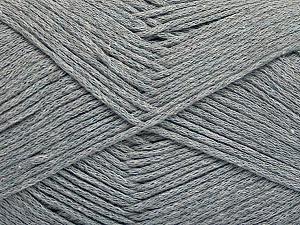 Fiber Content 100% Cotton, Brand ICE, Grey, Yarn Thickness 2 Fine  Sport, Baby, fnt2-50587