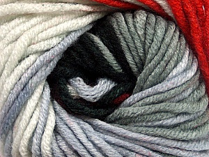Fiber Content 100% Acrylic, White, Red, Brand ICE, Grey Shades, Black, Yarn Thickness 5 Bulky  Chunky, Craft, Rug, fnt2-50843