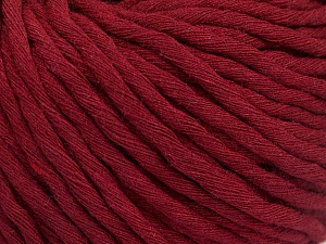 Fiber Content 100% Cotton, Brand ICE, Burgundy, Yarn Thickness 5 Bulky  Chunky, Craft, Rug, fnt2-50893