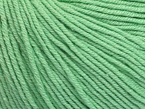 Fiber Content 60% Cotton, 40% Acrylic, Mint Green, Brand ICE, Yarn Thickness 2 Fine  Sport, Baby, fnt2-51226