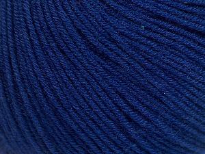 Fiber Content 60% Cotton, 40% Acrylic, Navy, Brand ICE, Yarn Thickness 2 Fine  Sport, Baby, fnt2-51233