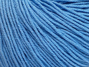 Fiber Content 60% Cotton, 40% Acrylic, Light Blue, Brand ICE, Yarn Thickness 2 Fine  Sport, Baby, fnt2-51236