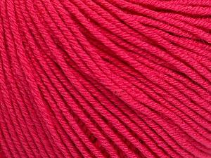 Fiber Content 60% Cotton, 40% Acrylic, Brand ICE, Fuchsia, Yarn Thickness 2 Fine  Sport, Baby, fnt2-51244