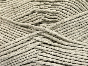 Fiber Content 55% Cotton, 45% Acrylic, Light Grey, Brand ICE, Yarn Thickness 4 Medium  Worsted, Afghan, Aran, fnt2-51429