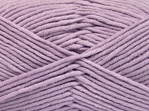 Fiber Content 55% Cotton, 45% Acrylic, Light Lilac, Brand ICE, Yarn Thickness 4 Medium  Worsted, Afghan, Aran, fnt2-51434