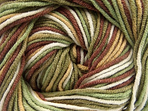 Fiber Content 55% Cotton, 45% Acrylic, White, Khaki, Brand ICE, Brown, Beige, Yarn Thickness 3 Light  DK, Light, Worsted, fnt2-51443