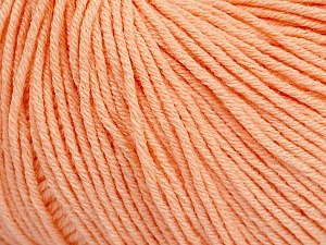 Fiber Content 60% Cotton, 40% Acrylic, Light Salmon, Brand ICE, Yarn Thickness 2 Fine  Sport, Baby, fnt2-51515