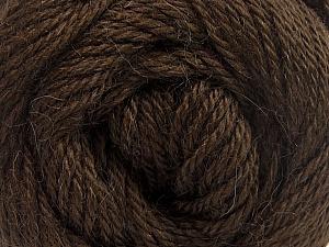 Fiber Content 45% Alpaca, 30% Polyamide, 25% Wool, Brand ICE, Dark Brown, Yarn Thickness 3 Light  DK, Light, Worsted, fnt2-51525