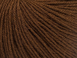 Fiber Content 40% Acrylic, 40% Merino Wool, 20% Polyamide, Brand ICE, Dark Brown, Yarn Thickness 2 Fine  Sport, Baby, fnt2-51541