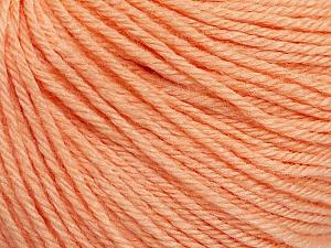 Fiber Content 40% Acrylic, 40% Merino Wool, 20% Polyamide, Light Salmon, Brand ICE, Yarn Thickness 2 Fine  Sport, Baby, fnt2-51545