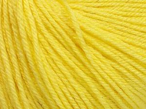 Fiber Content 40% Acrylic, 40% Merino Wool, 20% Polyamide, Light Yellow, Brand ICE, Yarn Thickness 2 Fine  Sport, Baby, fnt2-51546