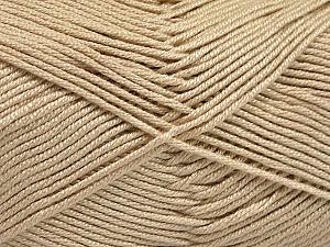Fiber Content 50% Acrylic, 50% Bamboo, Brand ICE, Beige, Yarn Thickness 2 Fine  Sport, Baby, fnt2-51650