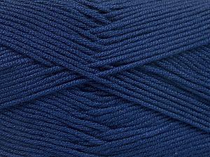 Fiber Content 50% Acrylic, 50% Bamboo, Navy, Brand ICE, Yarn Thickness 2 Fine  Sport, Baby, fnt2-51656