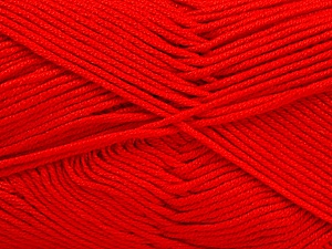 Fiber Content 50% Acrylic, 50% Bamboo, Red, Brand ICE, Yarn Thickness 2 Fine  Sport, Baby, fnt2-51661