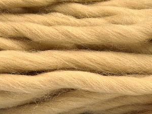 Fiber Content 100% Superwash Wool, Brand ICE, Beige, Yarn Thickness 6 SuperBulky  Bulky, Roving, fnt2-51675