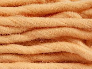 Fiber Content 100% Superwash Wool, Light Salmon, Brand ICE, Yarn Thickness 6 SuperBulky  Bulky, Roving, fnt2-51679