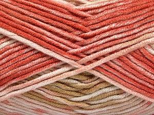 Fiber Content 100% Antipilling Acrylic, White, Salmon, Pink, Brand ICE, Camel, Yarn Thickness 4 Medium  Worsted, Afghan, Aran, fnt2-52063