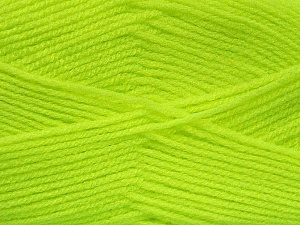 Fiber Content 100% Acrylic, Neon Yellow, Brand ICE, Yarn Thickness 3 Light  DK, Light, Worsted, fnt2-52070