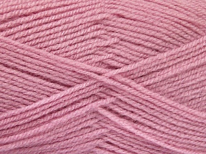 Fiber Content 100% Acrylic, Rose Pink, Brand ICE, Yarn Thickness 3 Light  DK, Light, Worsted, fnt2-52101