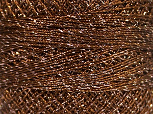 Fiber Content 70% Polyester, 30% Metallic Lurex, Brand YarnArt, Silver, Copper, Yarn Thickness 0 Lace  Fingering Crochet Thread, fnt2-52251