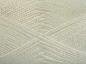 Fiber Content 100% Acrylic, White, Brand ICE, Yarn Thickness 2 Fine  Sport, Baby, fnt2-52356