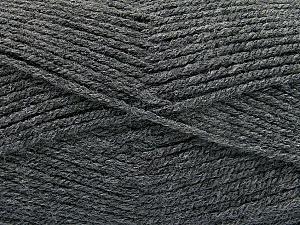 Fiber Content 100% Acrylic, Brand ICE, Dark Grey, Yarn Thickness 3 Light  DK, Light, Worsted, fnt2-52549