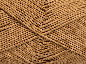 Baby cotton is a 100% premium giza cotton yarn exclusively made as a baby yarn. It is anti-bacterial and machine washable! Fiber Content 100% Giza Cotton, Light Brown, Brand ICE, Yarn Thickness 3 Light  DK, Light, Worsted, fnt2-52558