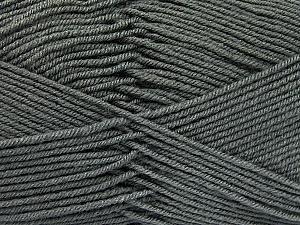 Fiber Content 70% Acrylic, 30% Wool, Brand ICE, Dark Grey, Yarn Thickness 4 Medium  Worsted, Afghan, Aran, fnt2-52603