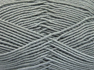 Fiber Content 70% Acrylic, 30% Wool, Light Grey, Brand ICE, Yarn Thickness 4 Medium  Worsted, Afghan, Aran, fnt2-52604