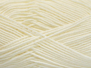 Fiber Content 70% Acrylic, 30% Wool, Off White, Brand ICE, Yarn Thickness 4 Medium  Worsted, Afghan, Aran, fnt2-52607