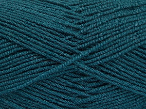 Fiber Content 70% Acrylic, 30% Wool, Teal, Brand ICE, Yarn Thickness 4 Medium  Worsted, Afghan, Aran, fnt2-52609