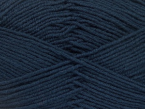 Fiber Content 70% Acrylic, 30% Wool, Brand ICE, Dark Navy, Yarn Thickness 4 Medium  Worsted, Afghan, Aran, fnt2-52611