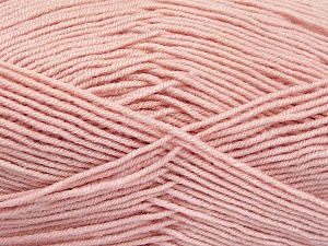 Fiber Content 70% Acrylic, 30% Wool, Light Pink, Brand ICE, Yarn Thickness 4 Medium  Worsted, Afghan, Aran, fnt2-52617