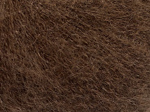 Fiber Content 52% SuperKid Mohair, 35% Polyamide, 13% Superwash Extrafine Merino Wool, Brand ICE, Brown, Yarn Thickness 1 SuperFine  Sock, Fingering, Baby, fnt2-52948