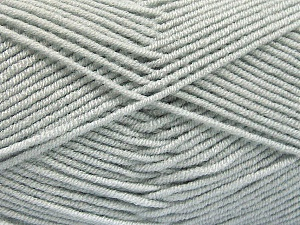 Fiber Content 50% Bamboo, 50% Acrylic, Light Grey, Brand ICE, Yarn Thickness 2 Fine  Sport, Baby, fnt2-53088