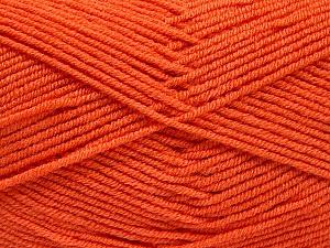 Fiber Content 50% Acrylic, 50% Bamboo, Brand ICE, Dark Orange, Yarn Thickness 2 Fine  Sport, Baby, fnt2-53094