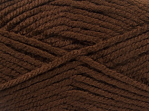 Fiber Content 100% Acrylic, Brand ICE, Dark Brown, Yarn Thickness 5 Bulky  Chunky, Craft, Rug, fnt2-53171