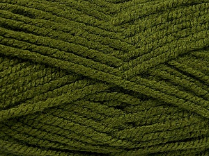 Fiber Content 100% Acrylic, Brand ICE, Hunter Green, Yarn Thickness 5 Bulky  Chunky, Craft, Rug, fnt2-53178