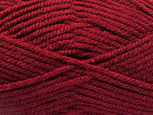 Fiber Content 100% Acrylic, Brand ICE, Burgundy, Yarn Thickness 5 Bulky  Chunky, Craft, Rug, fnt2-53182