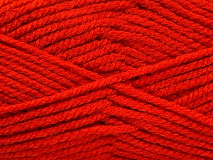 Fiber Content 100% Acrylic, Brand ICE, Dark Orange, Yarn Thickness 5 Bulky  Chunky, Craft, Rug, fnt2-53184